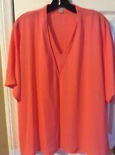 halogen (nordstrom's)  blouse XL pink