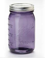 Purple Ball Mason Jar - 32 oz Wide Mouth. Weddings! Decor! Store Coffee! Crafts!