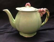 Royal Winton Tiger Lily Green Teapot with Lid...