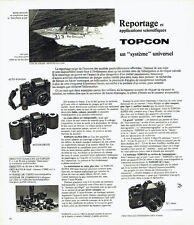 Publicité Advertising 037  1975  Objectif appareil photo IC1 TOPCON dauphin d'or