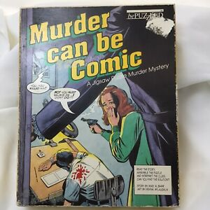 Murder Can Be Comic Jigsaw Puzzle Murder Mystery bePuzzled Vintage 1988