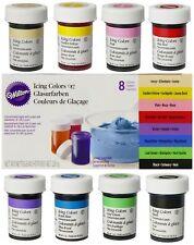 Wilton Icing Color Lebensmittelfarbe 8 x 28g im Set Gelfarben Paste für Fondant