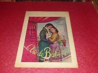 CINEMA AFFICHE ORIGINALE BELGE SIGNED ! LA VIE DE BOHEME MARCEL L'HERBIER 1945