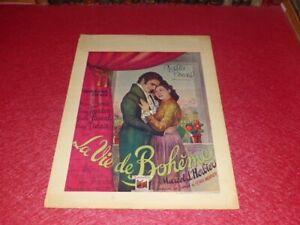 Cinema Poster Original Belgian Signed! The Life Bohemian Marcel L'Seagrass 1945