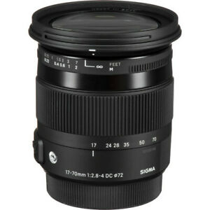 Sigma 17-70mm f/2.8-4 DC Macro OS HSM Contemporary Lens for Nikon F