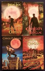 4 Steamy PARANORMAL Romance Books CRIMSON CITY Series CAROLYN JEWEL Liz Maverick