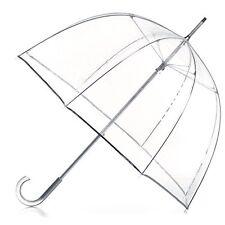 Totes Signature Clear Bubble Umbrella, Clear NEW