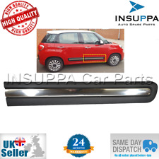 RIGHT FRONT DOOR PROTECTIVE MOULDING STRIP CHROME FOR FIAT 500L ON 735558451