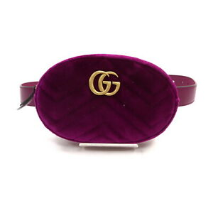 Gucci Waist Pouch Bag  Rose Velvet 2405178