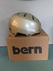 Bern Macon 2.0 Helmet BRAND NEW Size Medium Matte champagne