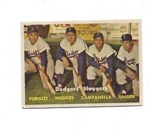 1957 Topps #400 Dodgers Sluggers very good to excellent