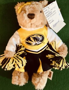 "UNIVERSITY of MISSOURI 2006 College MASCOT 10"" Plush Cheerleader PLUSH PROTOTYPE"