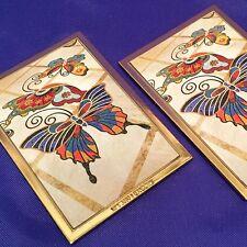 Lot 2 Refrigerator Locker Magnet Butterfly Image Wynn Encore Las Vegas Souviner