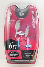 GE USB 2.0 DEVICE CABLE 6 FT. WINDOWS & MACINTOSH COMPATIBLE HI SPEED