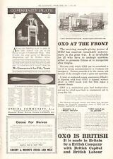 1914 ANTIQUE PRINT- WW1-ADVERT- OXO AT THE FRONT, COCOA FOR NERVES