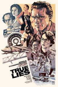 """True Lies Arnold Schwarzenegger Limited Giclee Print Art Poster #60 13"""" x 19"""""""