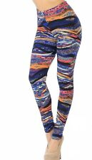 Buttery Soft Tribal Galaxy Stripes Leggings TC2 Size 22-30 3x-5X Ankle Length