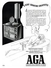 ▬► PUBLICITE ADVERTISING AD Eau chaude gratuite AGA cuisinière