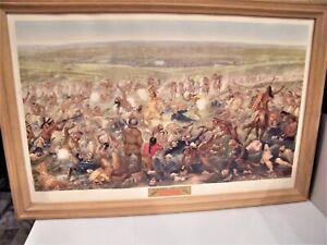 Custers Last Fight 1952 Art Anheuser BUSCH Hand Color Litho BUDWEISER Original