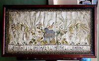 17thC? Antique Embroidery Stumpwork Lamb of God Silk Picture Religion Agnus Dei