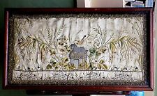 17thC? antique broderie Stumpwork Agneau de Dieu soie photo religion Agnus Dei