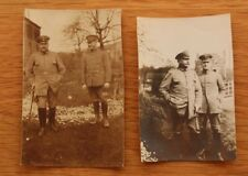 2 alte Fotos General mit Adjudanten 1. WK