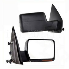 For 04-06 Ford F150 Power Heated Signal Side View Mirror Pair LH RH Black