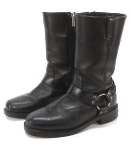 mens black HARLEY DAVIDSON hustin waterproof riding motorcycle boots 95353 8 D M