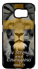 For Samsung Galaxy Note 5/4/3/2 Christian Bible Verse Lion Cross Back Cover Case