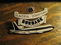 Burbank California USA City Lions Club L10-11 Jet Airplane Vintage Lapel Hat Pin