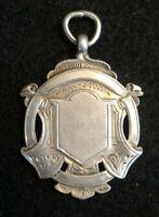 Silver Fob Vintage Art Nouveau 1921 Birmingham Engraveable Sterling 11.7 g S1