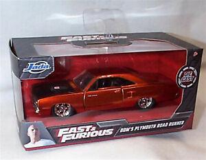 Fast & Furious 1970 Plymouth Road Runner Orange 1-32 Diecast model Jada 97128 RB