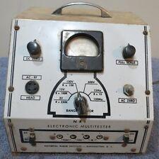 Vintage NRI Electronic Multi-Tester for Restoration