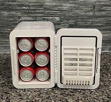 Mini Fridge Skincare Portable Cooler & Warmer Beauty Fridge Makeup w/ Mirror Led