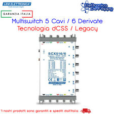 SCX516/6 Multiswitch Ibrido Passante 5 Ingressi e 6 uscite dCSS/SCR idoneo sky