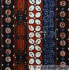BonEful Fabric FQ Cotton African Batik Indonesian Hand Dye Wax Tribe Stripe RARE