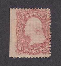 "US Sc 88 MLH. 1868 3c rose Washington w/ ""E"" grill, Cert."