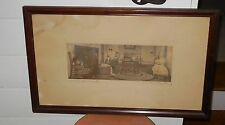"""Wallace Nutting """"A Colonial Cradle"""" Signed and Titled"""