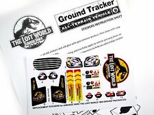 Replacement Stickers for Kenner JURASSIC PARK Lost World Ground tracker Pre-cut!