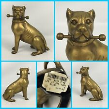"6.5"" Metal Brass American Pit Bull Terrier Dog Statue Figurine Decor - Gorgeous"