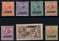 G139524/ BRITISH LEVANT – Y&T # 68 / 74 MINT MH – COMPLETE – CV 150 $