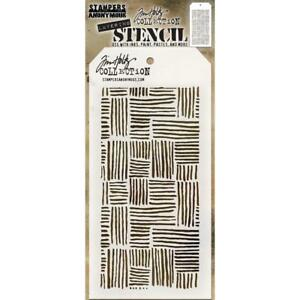 Tim Holtz Layering Stencil - THATCHED - Stampers Anonymous - THS104