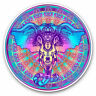 2 x Vinyl Stickers 7.5cm - Pretty Indian Elephant Mandala Cool Gift #19263