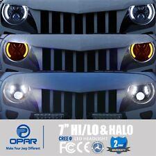 LED Halo Headlights & DRL Turn Singnal Light for For JEEP Wrangler JK TJ 97-17