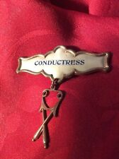 Very Old Eastern Star Fraternal Vintage CONDUCTRESS Pin
