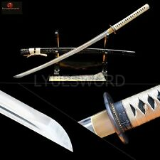 Japanese Samurai Sword Katana Folded Steel Full Tang Damascus Very Sharp Blade