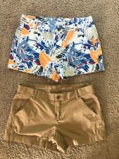 WOMENS KHAKIS BY GAP SUNKISSED SHORTS 2 PAIR SIZE 6