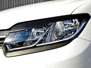 Renault Sandero 2014 2015 2016 eye brow, eyelids, cilia head lights, pair.