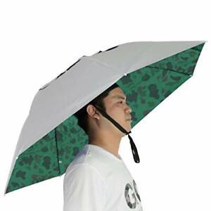 Fishing Umbrella Hat Folding Sun Rain Cap Silver/Camouflage with wind vent