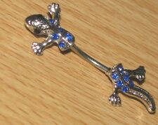 Belly Bar Gecko Split Body 14g 316 Stainless Steel
